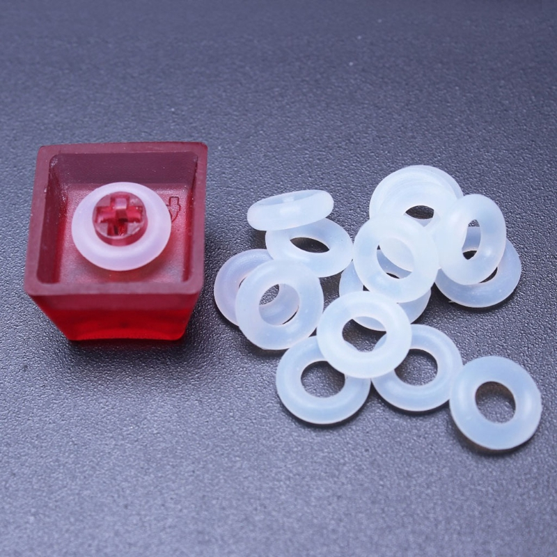 120Pcs Silicone Rubber O-Ring Switch Dampeners White For Cherry MX Keyboard