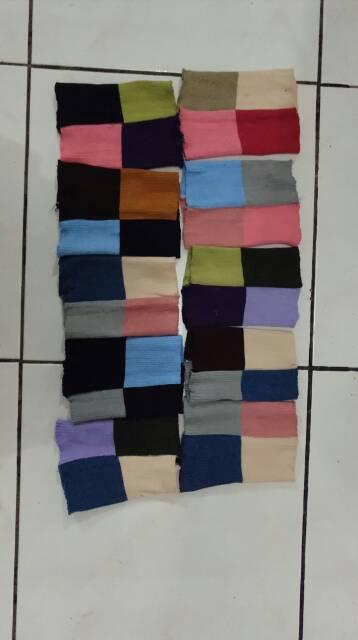 Ciput rajut Bandana 4 warna ,4 in 1