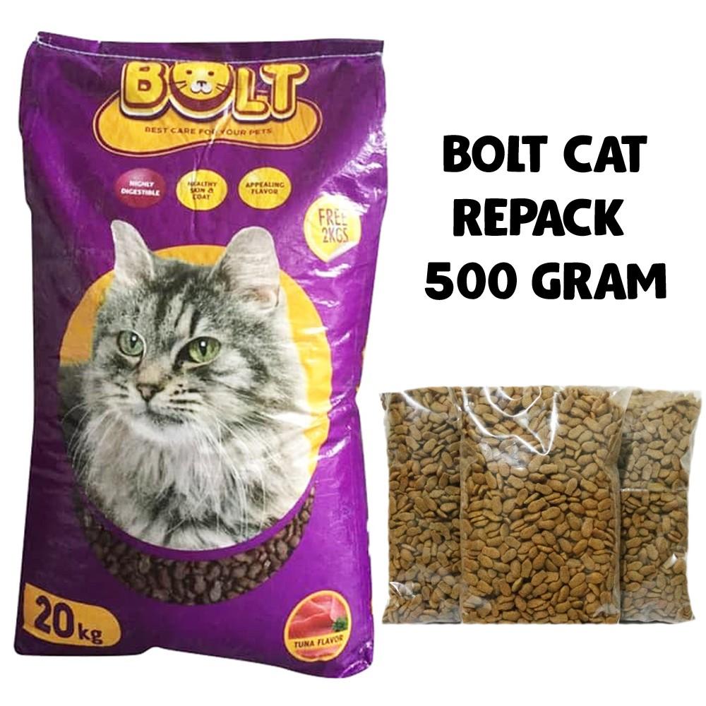 Makanan Kucing Bolt Cat Repack 500 Gram Makan Kucing Bolt Tuna Makanan Kucing Shopee Indonesia
