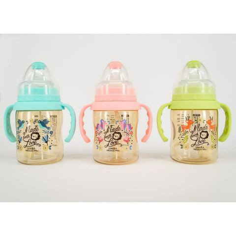SIMBA Dorothy PPSU Wide Neck Feeding Bottle with Auto Straw & Handle 200ml S61871 S61870 S61874