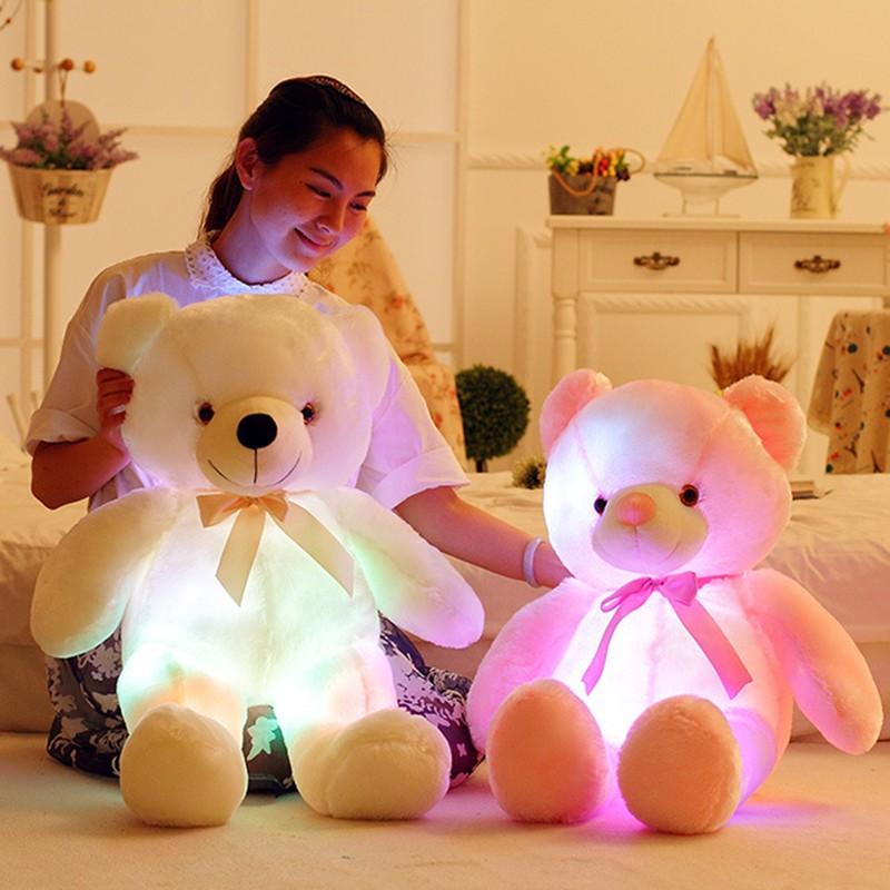 Cute Lamb Stuffed Animals, Boneka Plush Teddy Bear Dengan Lampu Led Ukuran 50cm Shopee Indonesia
