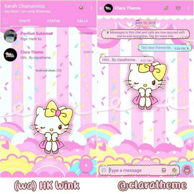 Tema Whatsapp Wa Hello Kitty Shopee Indonesia