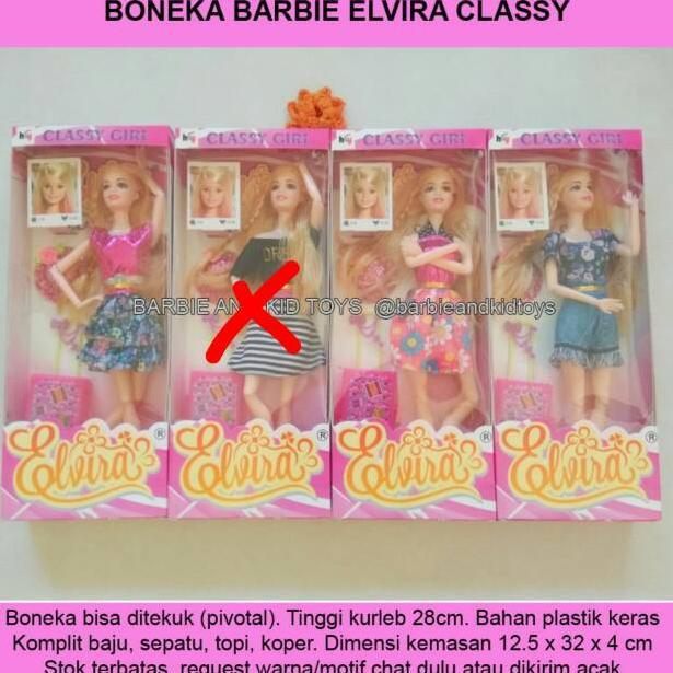 Kode Z6827 Boneka Barbie Pivotal Elvira Classy Tekuk Komplit Mainan Anak Unik Murah Shopee Indonesia