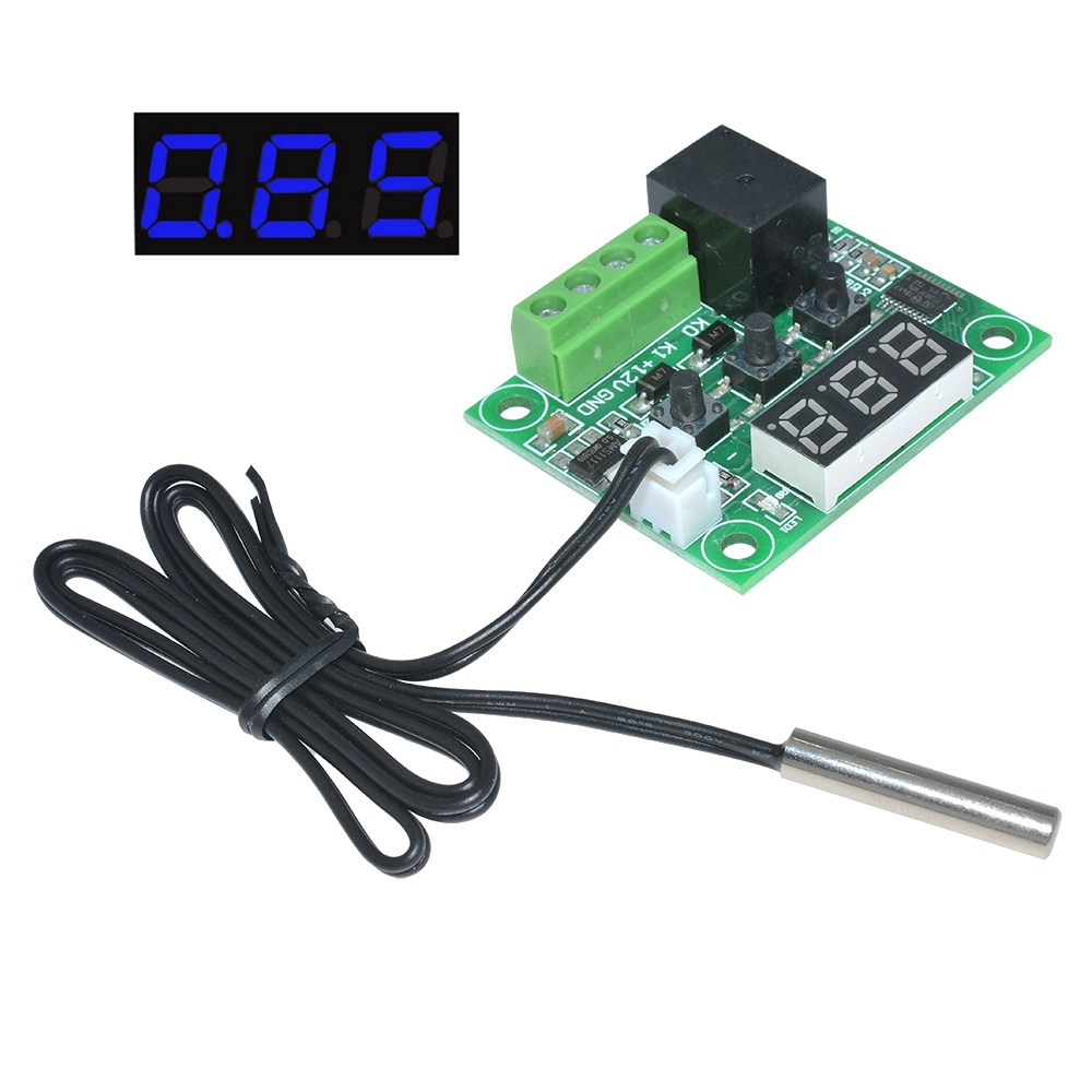 Red DC12V Digital Thermometer With Temp Probe Temperature LED Detector YF