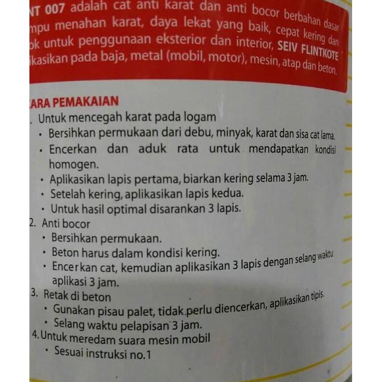 Best Seller FLINTKOTE SEIV CAT BESI ANTI KARAT MOBIL 1 KG PLINGKUT SENG MESIN BAJA ....,,,,   Shopee Indonesia