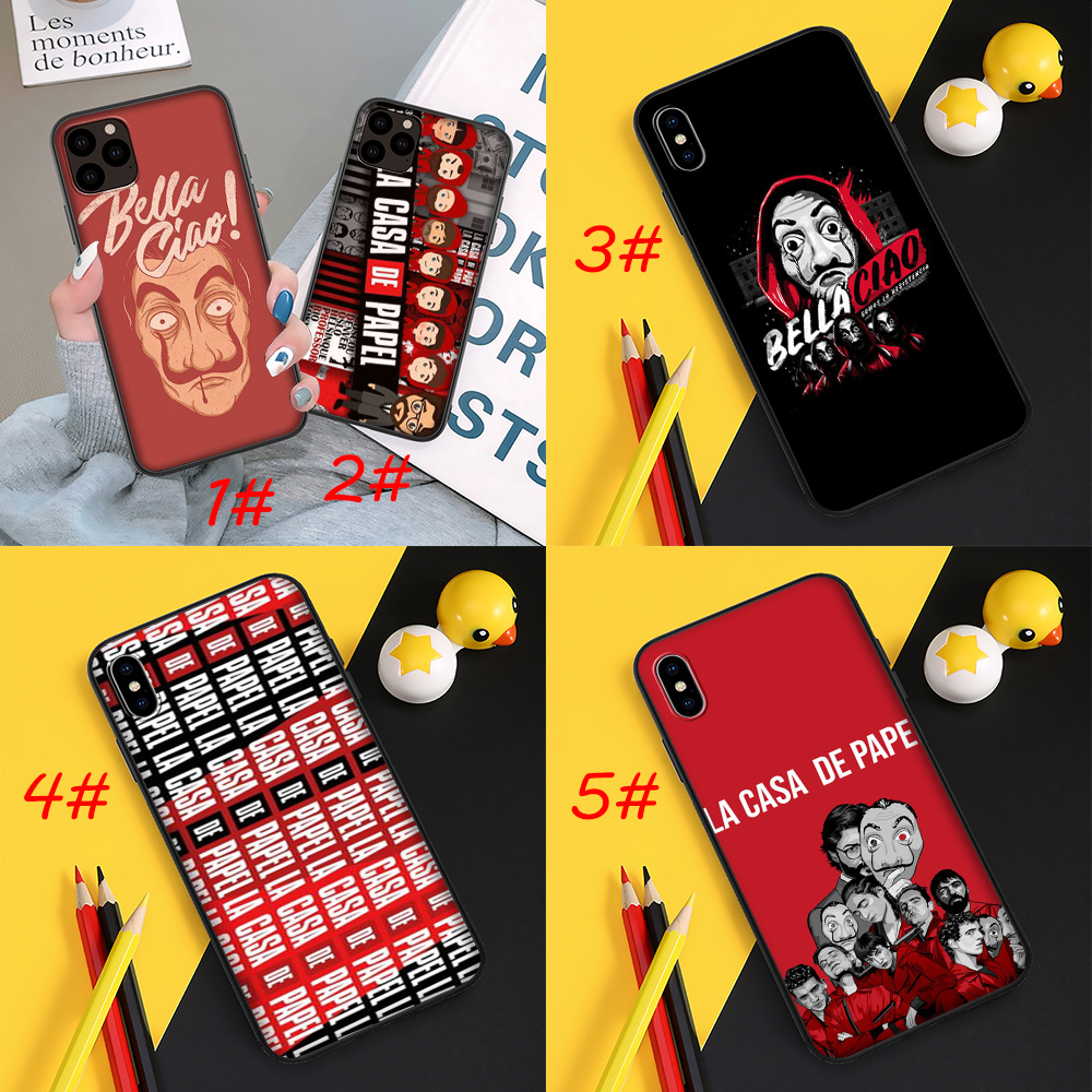 R63 La Casa De Papel Soft Back Case For Iphone 12 Mini 11 Pro Xs Max Xr X Cover Shopee Indonesia