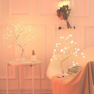 dekorasi rumah pohon bonsai lampu led mini hiasan meja