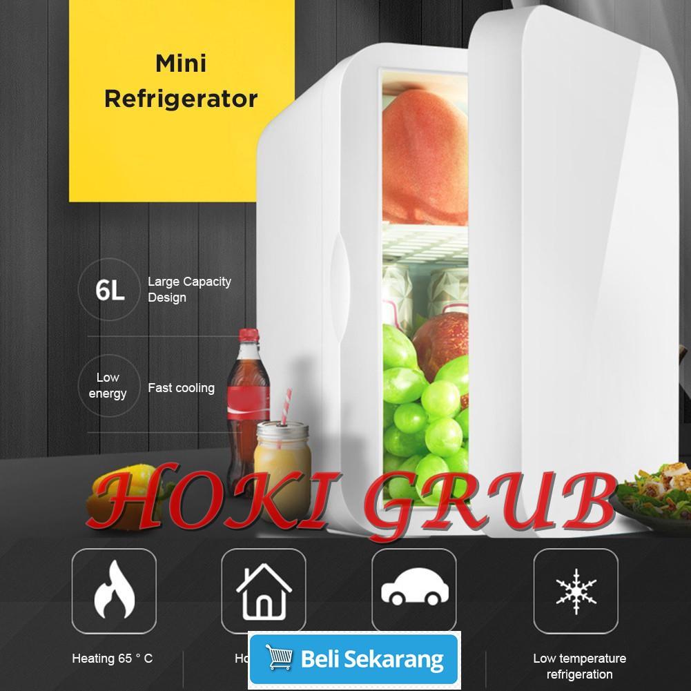 Mkiki Mini 4L Fridge Makeup Refrigerators Dual-Use for Home Room Car