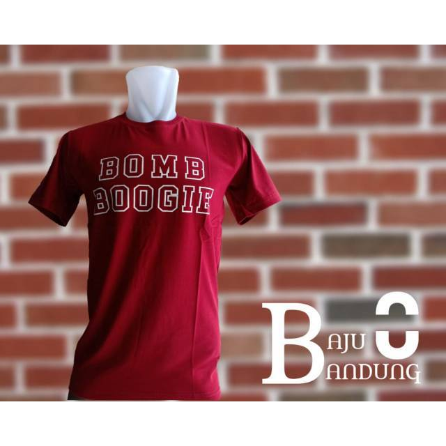 Kaos distro bandung BOMBBOOGIE pakaian pria  0a7409c98e