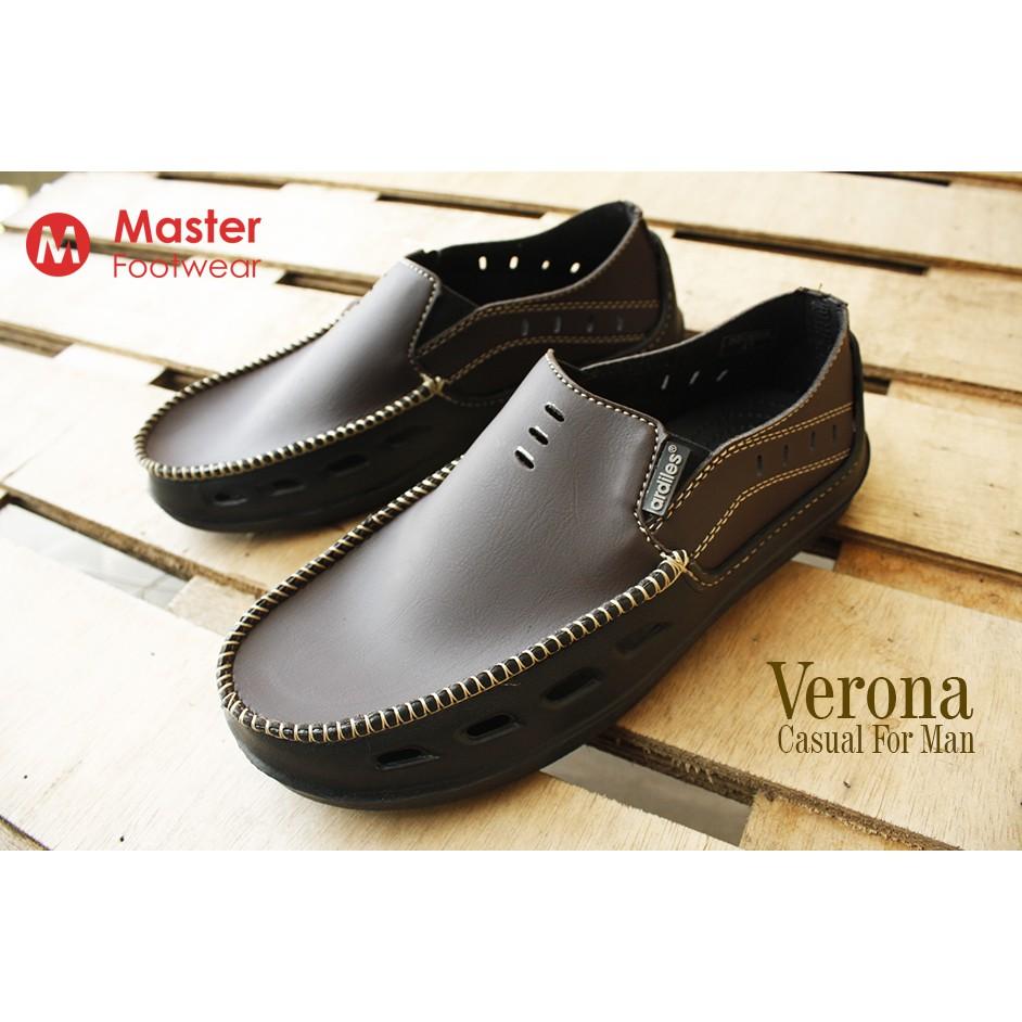 Sepatu Slip On Pria Ardiles Alex 4 Pilihan Warna Shopee Indonesia Men Money Vesto Coklat 43