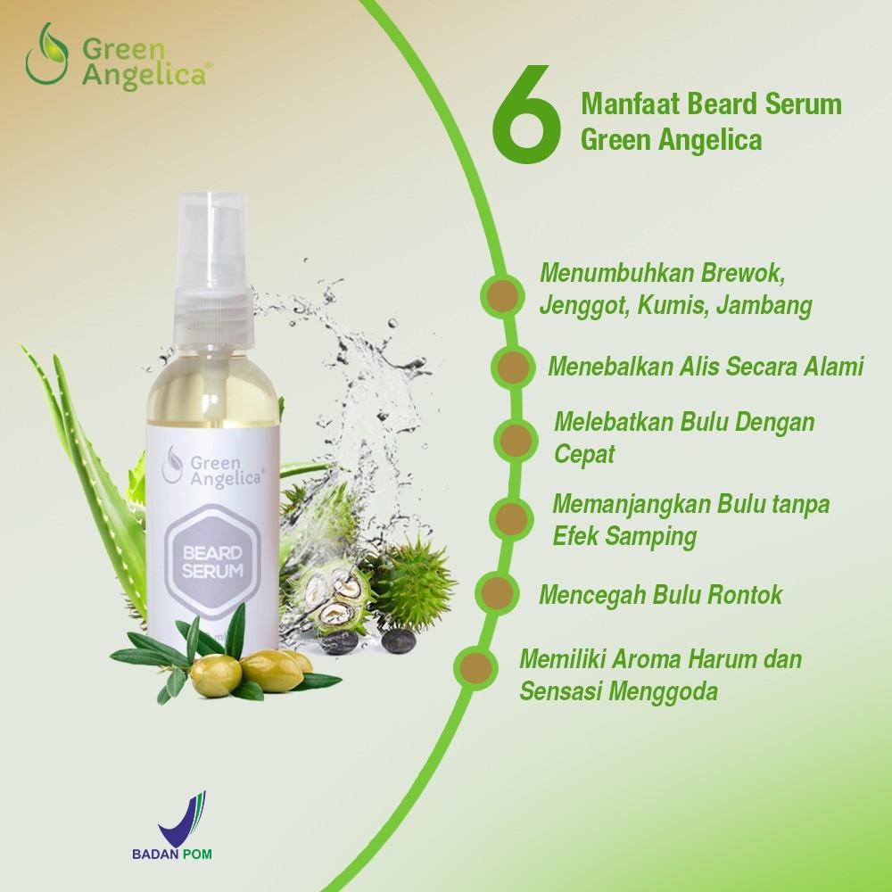 Penumbuh brewok, penebal alis green angelica beard serum penumbuh kumis dan jenggot asli resmi bpom | Shopee Indonesia