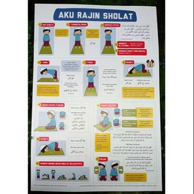Poster anak tata cara sholat | Shopee Indonesia