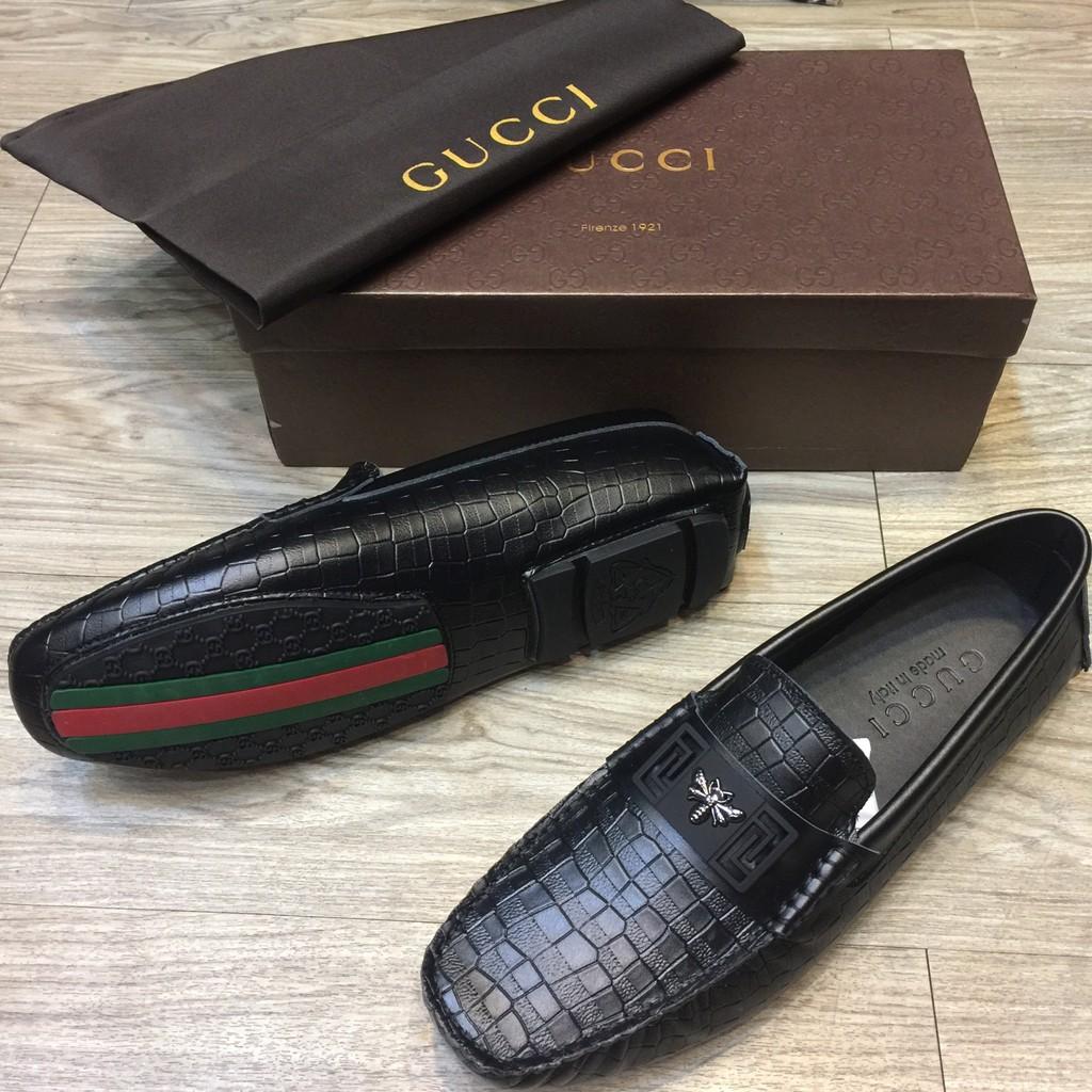 Sepatu Kulit Gucci Motif Kumbang  8541c2cfc4