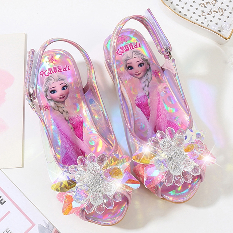 Sepatu High Heels Aksen Kristal Gaya Princess Untuk Anak Perempuan Shopee Indonesia