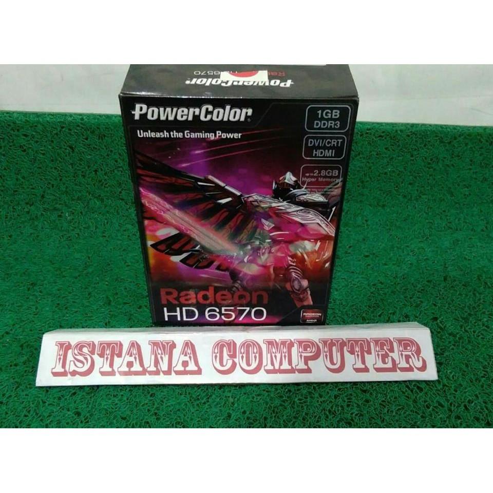 Radeon Power Color Vga Hd 6570 1gb Ddr3 Shopee Indonesia Card Pci E Powercolor Ati 128bit Garansi Resmi