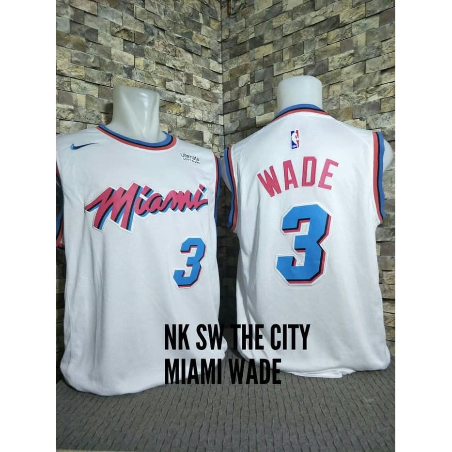 Terlaris Nike Nba Jersey Dwayne Wade Miami Heat City Edition Black - Hitam ca0d1e4b5