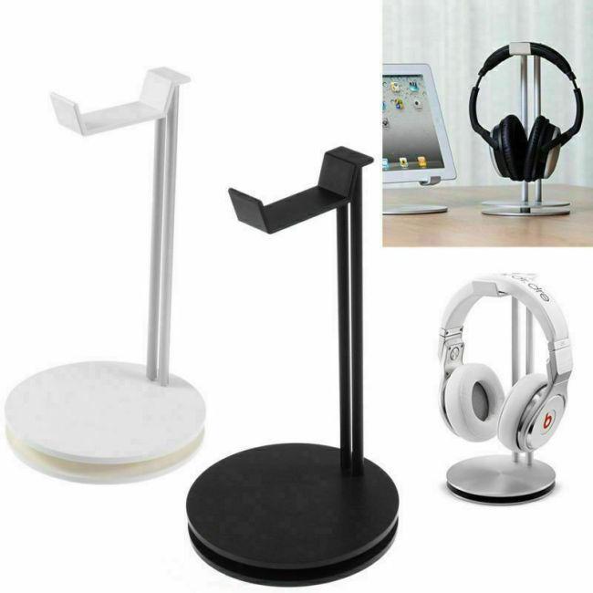 NEW Aluminum Earphone Hanger Headset Holder Headphone Bracket Desk Display Stand