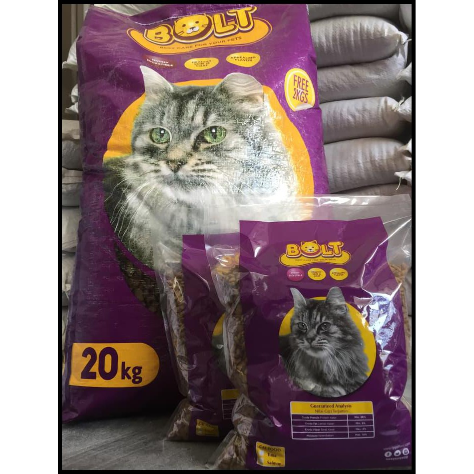 Banting Harga Makanan Kucing Bolt Repack 1kg Shopee Indonesia