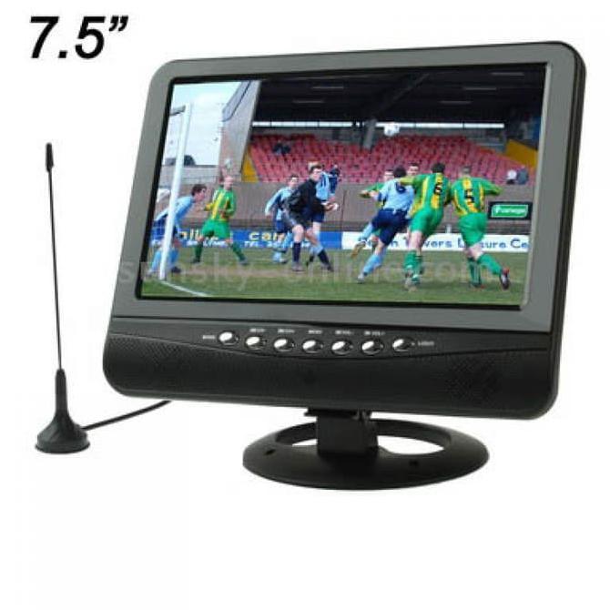 Promo Tv Analog Tft Lcd 7.5 Inch Wide View Angle Portable Mini Televisi Usb