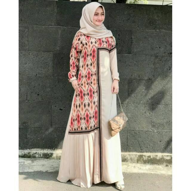 Alifaa Alifa Dress Brown Size L By Javina Gamis Dress Muslim Javinaofficial Shopee Indonesia