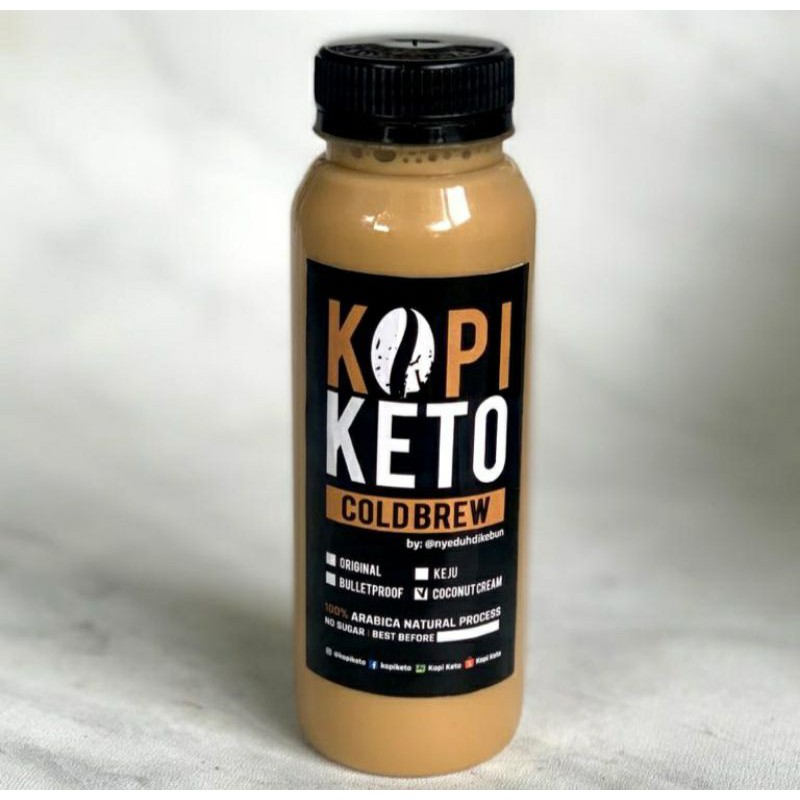 Kopi Coconut Milk By Kopi Keto 250ml 500ml 1 Liter Low Carb Keto Debm Diabet Friendly Shopee Indonesia