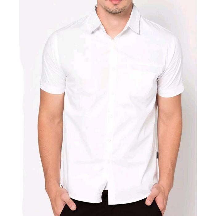 Baju formal pendek putih polos | Kemeja formal pria | Baju Kantor | Shopee Indonesia