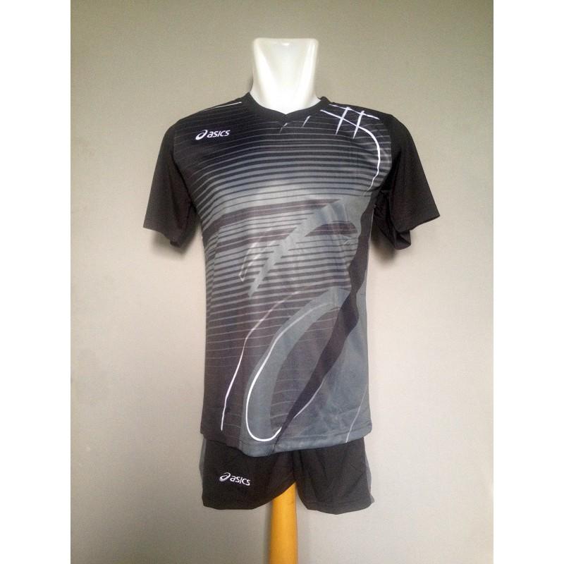 Baju Celana Volley Kaos Jersey Setelan Voli Asics Ac02 Carcoal ... 51afdcdc20
