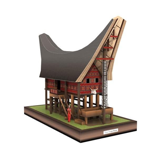 Diy Miniatur Rumah Tongkonan Toraja Shopee Indonesia