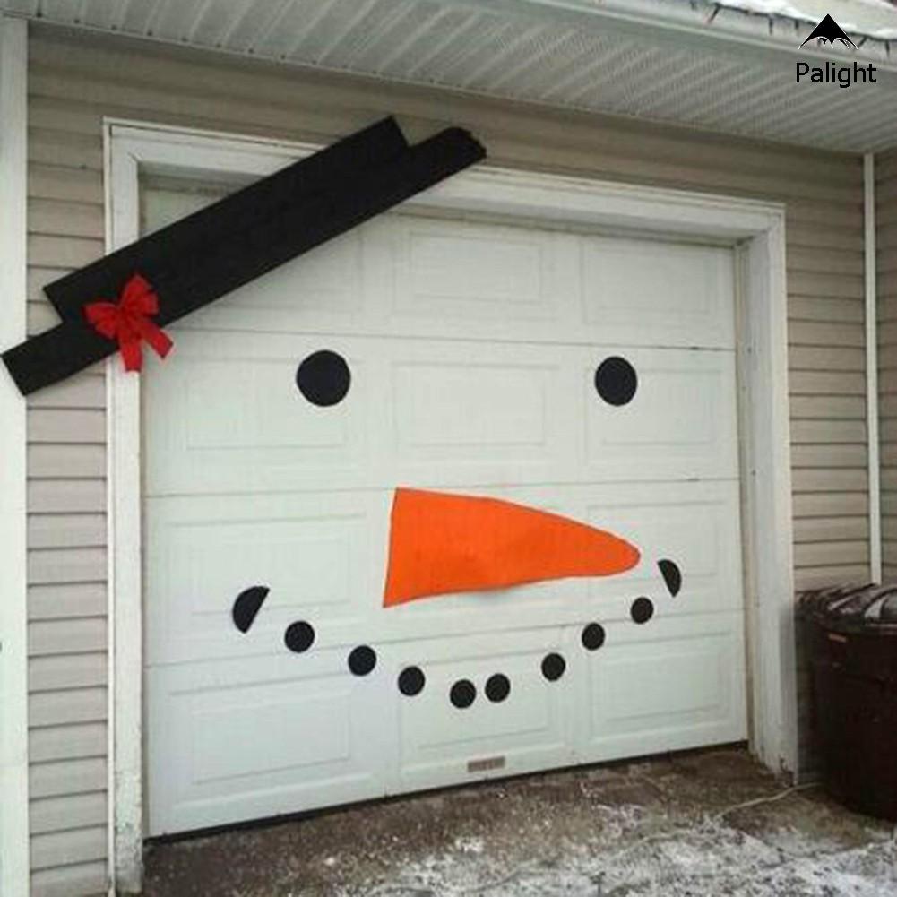 Stiker Pintu Garasi Desain Snowman Natal Dengan Pita Untuk Dekorasi Outdoor | Shopee Indonesia