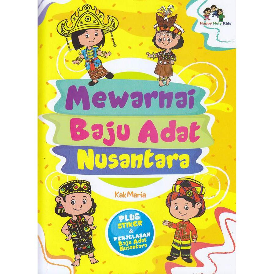 Buku Mewarnai Baju Adat Nusantara