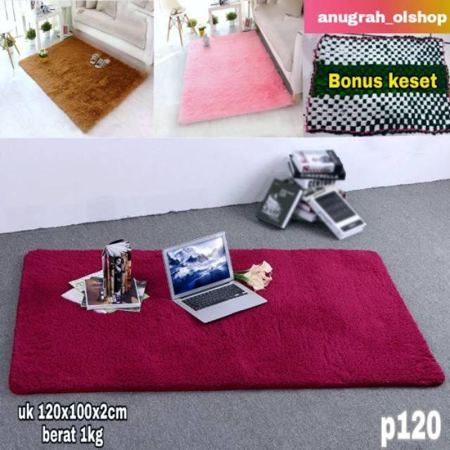 Karpet bulu polyfoam uk 120x100x2cm Shopee Indonesia