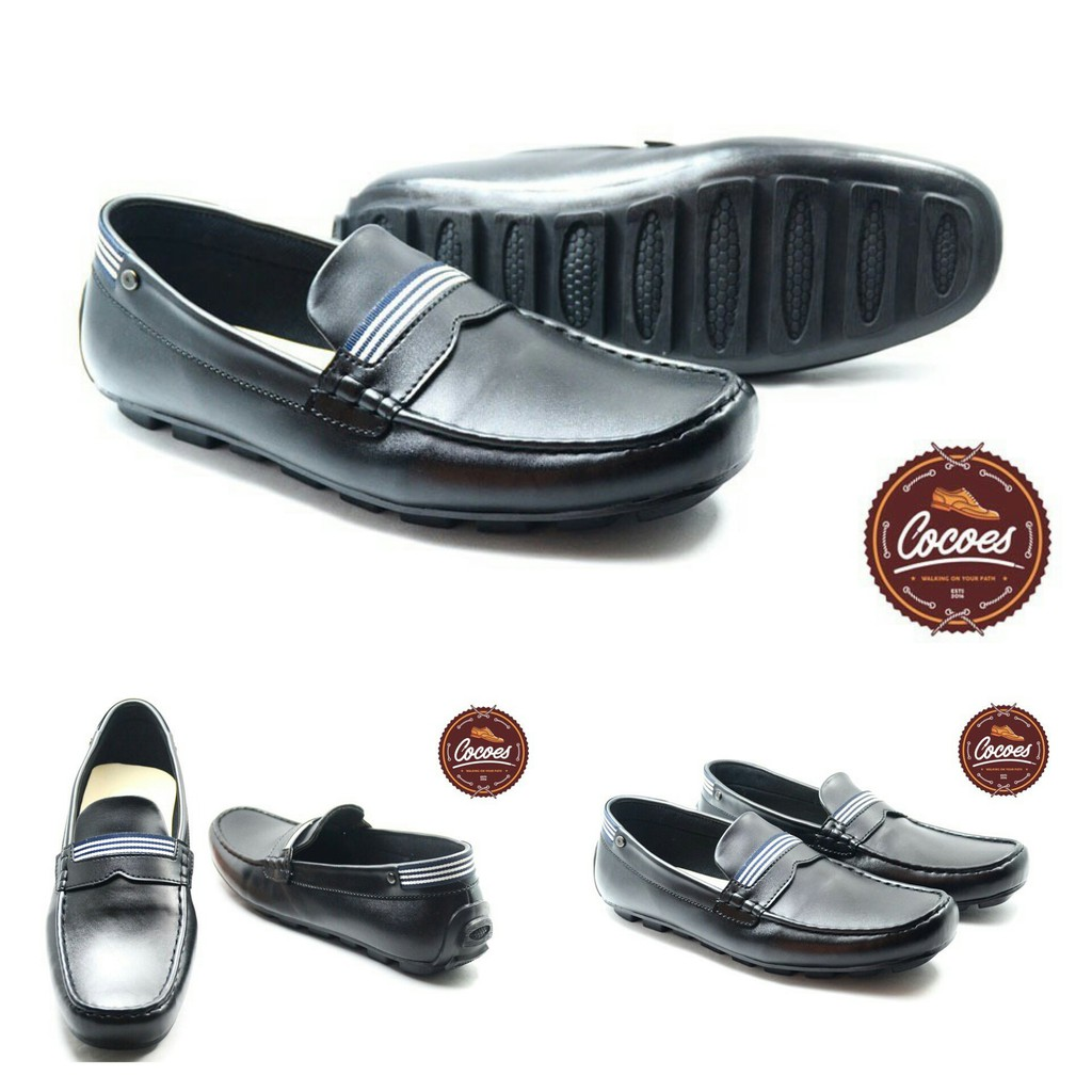 Sepatu Pria Cocoes Moccasin Capitano Slipon Original Shopee Indonesia Slip On Mocasin Decano Black