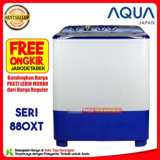... Aqua Mesin Cuci 2 Tabung 8 Kg QW-880XT (Free Onkir Jabodetabek). suka: 32