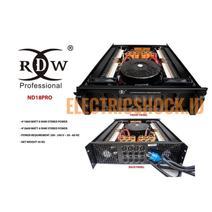 POWER AMPLIFIER RDW ND18PRO 4CH 1800 WATT ORIGINAL