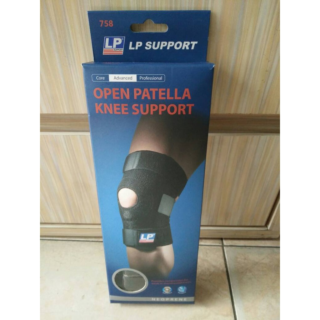 LP Support 758 - Knee Support Decker Lutut Standard Open Patella | Shopee Indonesia