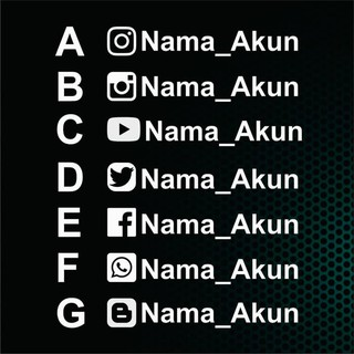Cutting Stiker Sticker Visor Helm Custom Nama Instagram Youtube PCS