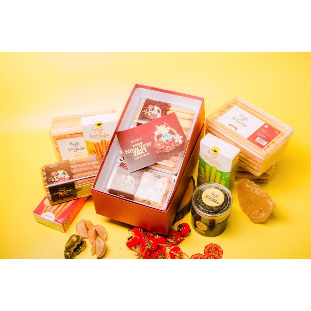 Premium Parcel Royale Foods Chinese New Year Kue Kering Hampers Egg Royale Parsel Imlek GiftBox
