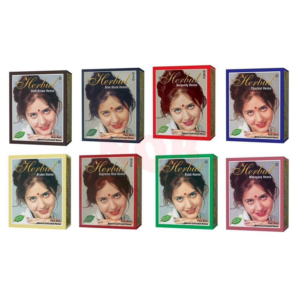 Original Pewarna Semir Rambut Herbul Henna Herbal Alami Bpom 10gr
