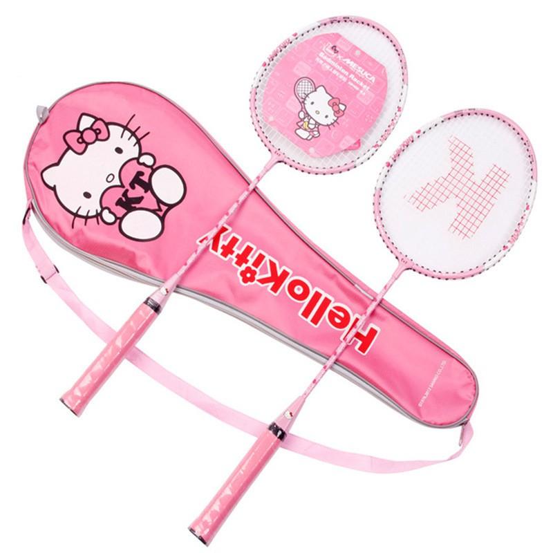 Raket Badminton / Bulu Tangkis Model Hello Kitty Warna Pink Bahan Aluminium   Shopee Indonesia
