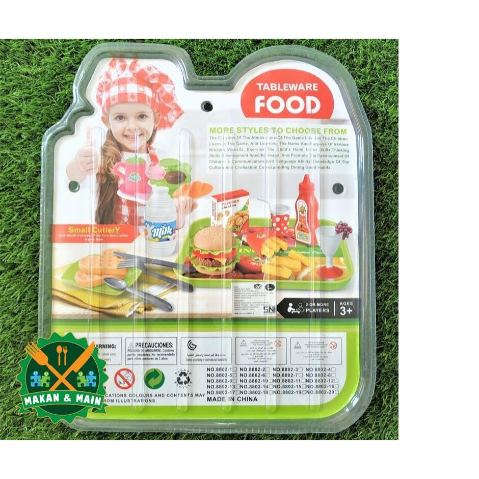 Mainan Masak Masakan Buah Buahan Anak Perempuan Buger Mcd Food Set Miniatur Makanan Sni Shopee Indonesia
