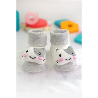 Kaos Kaki Boneka Kucing Warna Abu-abu Doll Sock 3D Karakter Hewan Kucing Alas Kaki Bayi Keren | Shopee Indonesia