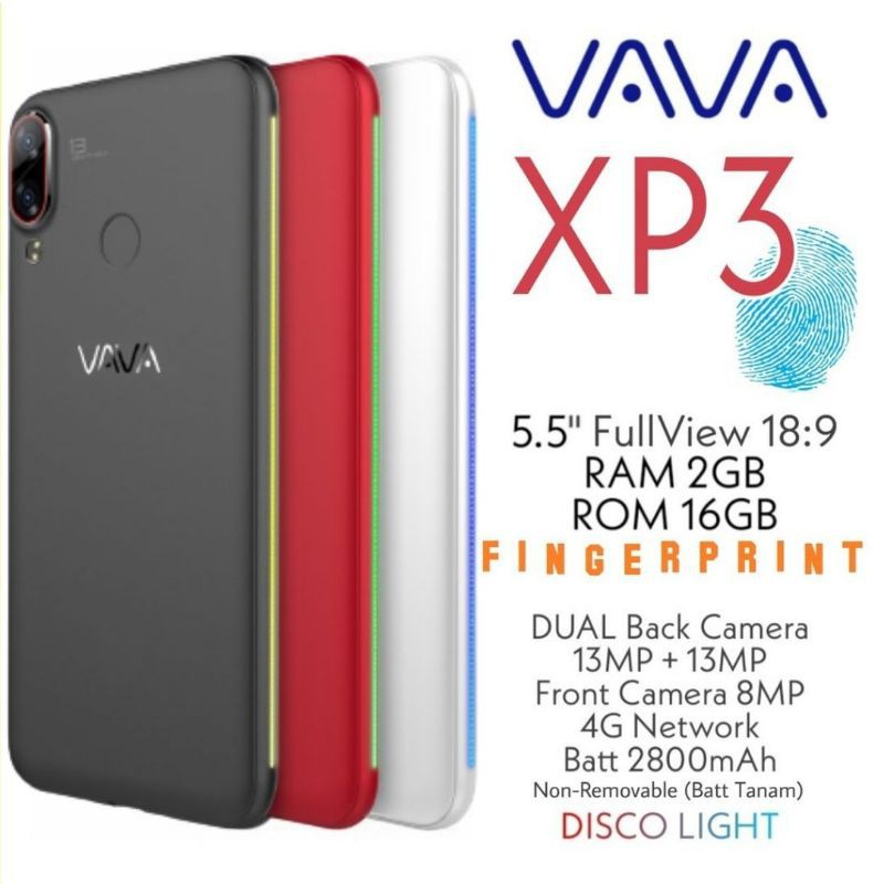 VAVA XP3 2/16 GB 100% ORIGINAL GARANSI RESMI