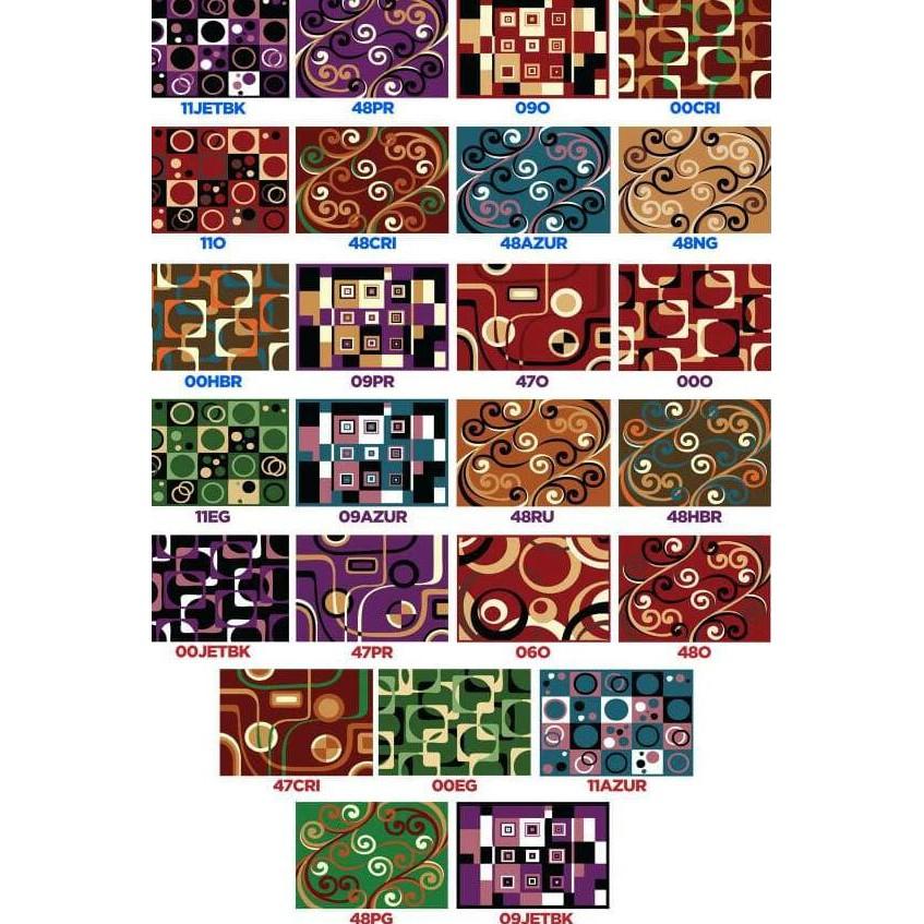 Karpet Minimalis PP Rugs Modern 00O Ukuran 115 x 155 cm ....,,,,