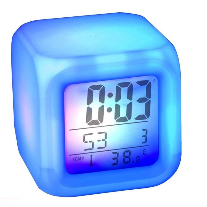 Jam Moody Jam Meja Jam Weker + Pengukur Suhu Ruangan berubah 7 warna ... 2ba0c8a6cb
