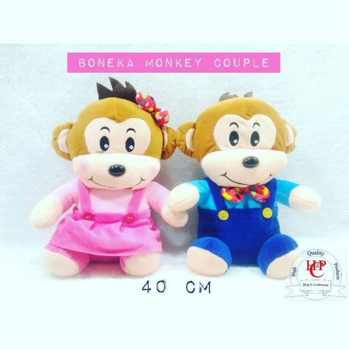 Unik boneka monkey couple monyet istimewa Diskon  d4c6ed2569