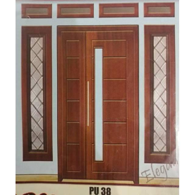 Kusen Pintu Utama Berikut Daun Pintu Minimalis A6s Shopee Indonesia