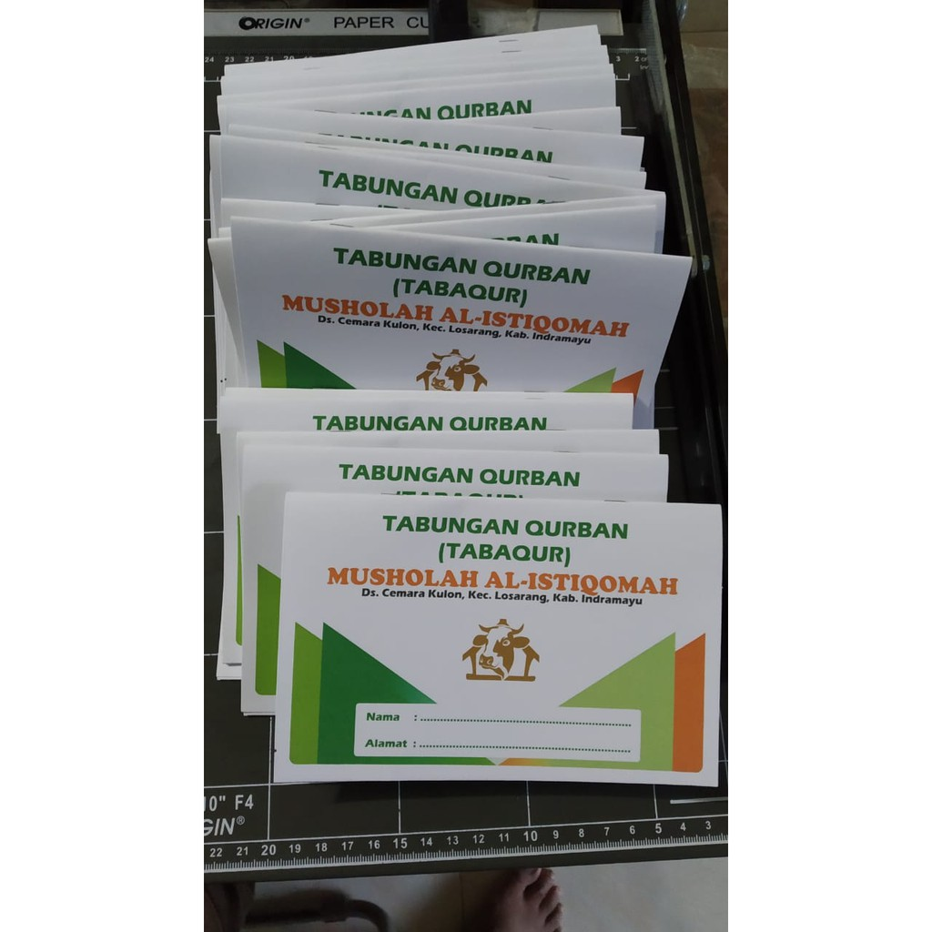Paket 1 Kg Isi 54 Buku Buku Tabungan Qurban Kurban Isi 5 Lembar 20 Halaman Shopee Indonesia