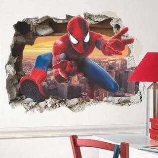 Mk Stiker Dinding Desain Spiderman 3d Untuk Kamar Anak ...
