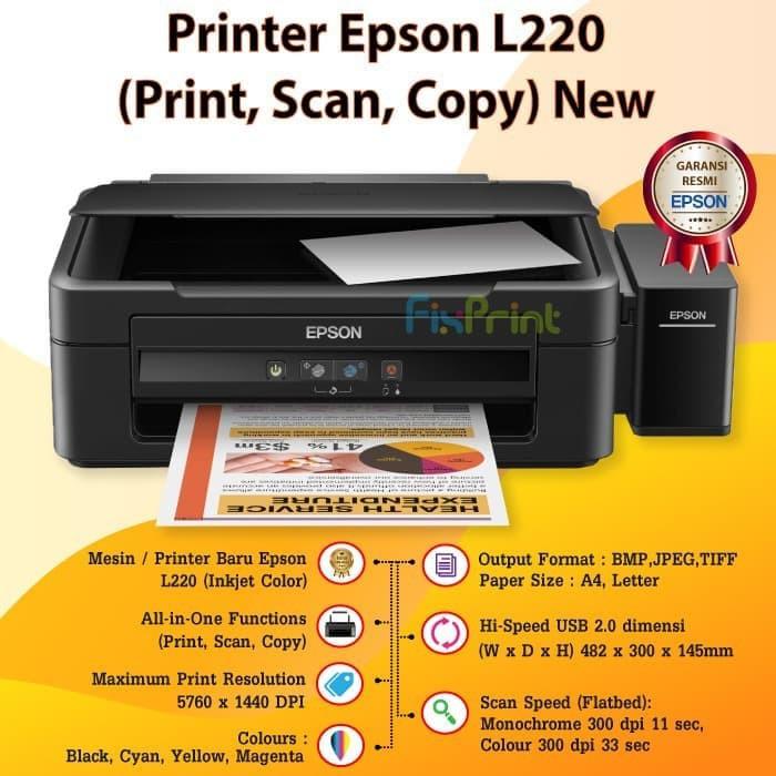 Printer Epson L220 Print Scan Copy New Shopee Indonesia