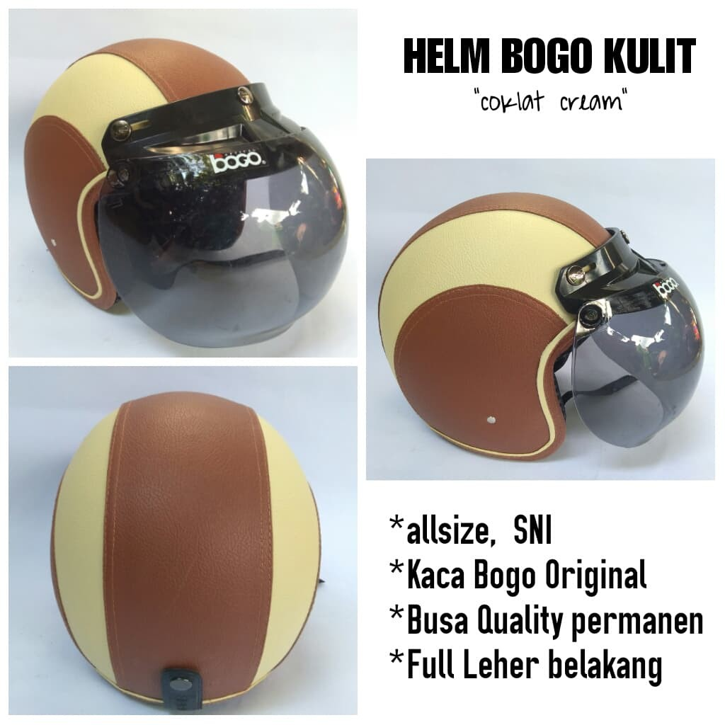 Helm Retro kulit Soft Pink Hitam model Fino Kaca Bogo Original | Shopee Indonesia